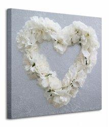 Carnation Heart - Obraz na płótnie