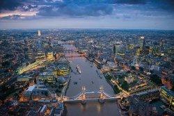 Londyn - Tamiza - plakat