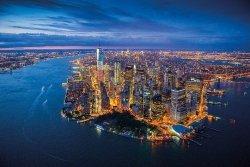 Nowy Jork - Rzeka Hudson - Panorama - plakat