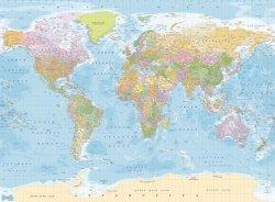 Fototapeta na ścianę - Mapa Świata Polityczna - 315x232cm