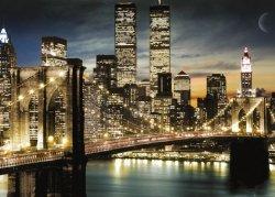 New York Manhattan Światła - plakat