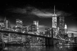 New York 1 World Trade Center BW - plakat