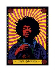 Jimi Hendrix - Pop Art - reprodukcja