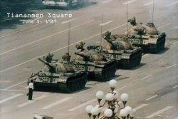 Tiananmen Square 5Th czerwiec 1989 Demonstracja - plakat