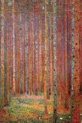 Gustav Klimt Brzozowy Las - plakat