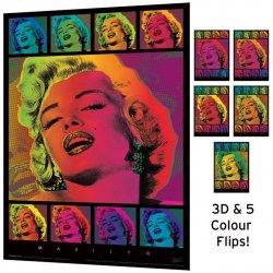 Marilyn Monroe Pop Art. - reprodukcja z efektem 3d
