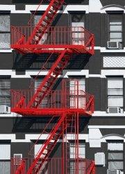 Fototapeta na ścianę - Nowy Jork - Schody - 183x254 cm