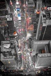 New York Times Square - Światła uliczne - plakat