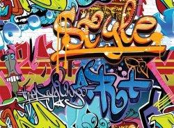 Fototapeta ścienna - Grafiti - Obrazki - 315x232 cm