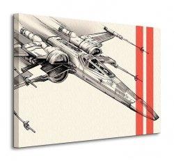 Star Wars Episode VII (X-Wing Pencil Art) - obraz na płótnie