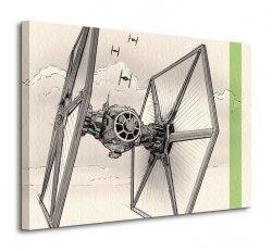 Star Wars Episode VII (TIE Fighter Pencil Art) - obraz na płótnie