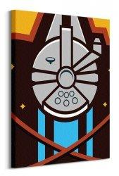 Star Wars Episode VII (Millennium Falcon Icon) - obraz na płótnie