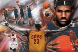 Lebron James - NBA - plakat