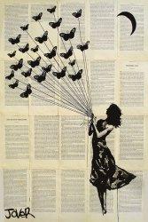 Loui Jover - Motyle - plakat