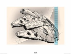 Star Wars The Force Awakens Millennium Falcon - reprodukcja