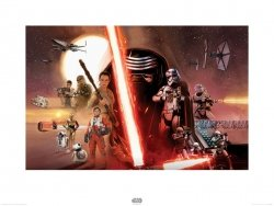 Star Wars The Force Awakens Galaxy - reprodukcja