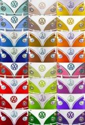 Fototapeta ścienna - Vw Camper Van Badge Volkswagen - 158x232cm