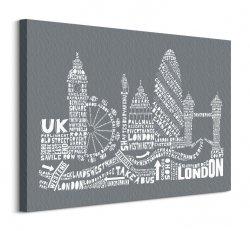 Citography (London Grey) - Obraz na płótnie