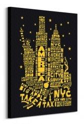 Citography (New York Black) - Obraz na płótnie