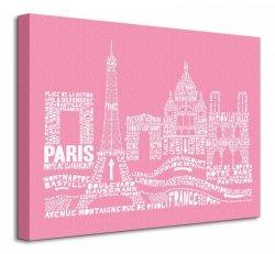 Citography (Paris) - Obraz na płótnie