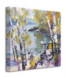 Obraz do salonu - Birch in Spring - 40x40 cm