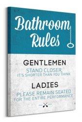Bathroom Rules - Obraz na płótnie
