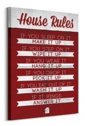 House Rules - Obraz na płótnie