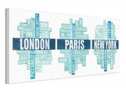London Paris New York Type - Obraz na płótnie