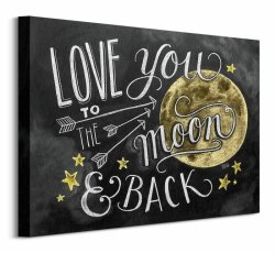 Obraz na płótnie - Księżyc - Moon - 50x40 cm
