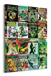Obraz na płótnie - DC Comics Green Lantern (Kolaż okładek)