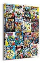 Obraz na ścianę - DC Comics Justice League (Kolaż okładek)