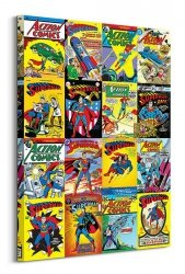 Obraz nowoczesny - DC Comics Superman (Kolaż okładek)
