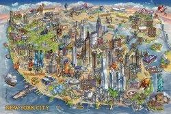 Plakat - New York Mapa - Maria Rabinky