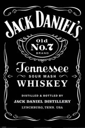 Jack Daniels - Label - plakat