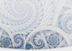 Fototapeta 3D - Symetryczne, kolorowe fractale - 320x230 cm