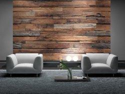 Fototapeta do salonu - Drewniana Ściana