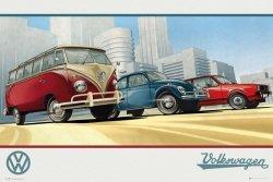 VW Volksvagen Camper - plakat