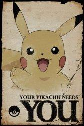 Pokemon Your Pikachu Needs You - plakat