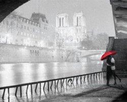 Paryż Katedra Notre Dame Pocałunek - plakat
