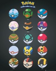 Pokemon Go Pokeballs, Poke balls - plakat