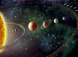 Planety i Słońce Kosmos - fototapeta