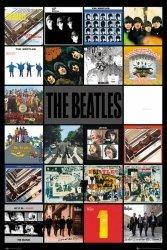 The Beatles Albumy Okładki - plakat
