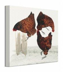 Obraz na płótnie - Trzy kury - Three Hens