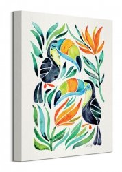 Tukan tęczodzioby - Obraz na płótnie - Tropical Toucans