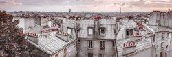Paryż Roof Tops - plakat