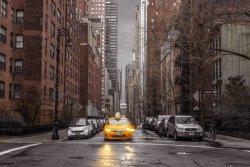 New York Żółte Taxi - plakat