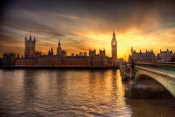 Londyn Big Ben i Pałac Westminsterski - plakat