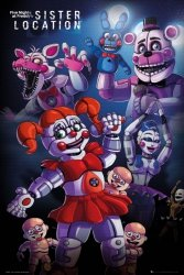 Five Nights At Freddy's Sister Location Group - plakat z gry