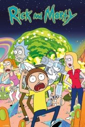 Rick and Morty Bohaterowie - plakat z serialu