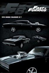 Szybcy i Wścielki 8 Dodge Charger - plakat z filmu